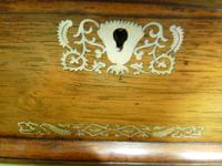 Large Inlaid Rosewood Jewellery / Table Box c.1835 (8 of 12)