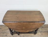 Early 20th Century Antique Oak Gateleg Table (8 of 12)