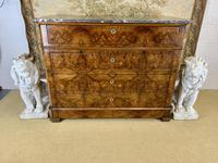 19th Century French Burr Walnut Commode with Marble Top (2 of 9)