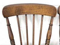 Pair of Antique Elm Farmhouse Kitchen Chairs (3 of 8)