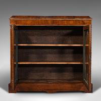 Antique Display Bookcase, English, Walnut, Boxwood, Empire, Cabinet, Regency (3 of 12)