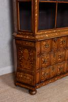 Dutch Bombe Bookcase Vitrine Display Cabinet on Chest Glazed (12 of 17)