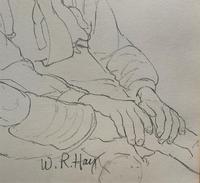 William Robert Hay - Original - Seated Student Portrait Pencil Drawing (7 of 12)