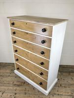 Victorian Pine Tall Chest of Drawers (6 of 9)
