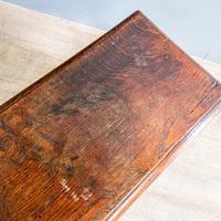 20th Century Long Oak Stool (5 of 5)