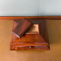 Unusual Victorian Mahogany Antique Tea Caddy (4 of 7)