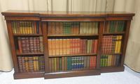 Victorian Mahogany Breakfront  Open Library Bookcase (2 of 7)