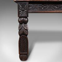 Antique Gothic Bench, Scottish, Oak, Love Seat, Hall Pew, Victorian c.1850 (12 of 12)