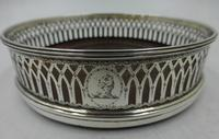 Antique George III Silver Coaster London 1791 (2 of 6)