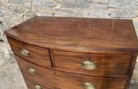 Large Regency Mahogany Bow Front Chest of Drawers (16 of 19)