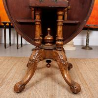 Walnut Marquetry Breakfast Table 19th Century (4 of 10)