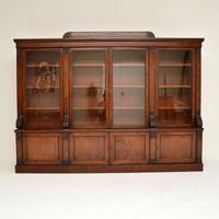 Antique George IV Mahogany Dwarf Bookcase (2 of 11)