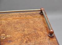 19th Century Burr Walnut Inlaid Music Cabinet (7 of 9)