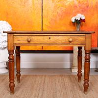 Desk Writing Table Victorian Pine (4 of 9)