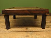 Vintage Colonial Style Low Coffee Table with Brass Details, Nautical Table (10 of 12)