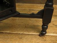 Antique Edwardian Black Painted Occasional Table, Lamp Table, Gothic Shabby Chic (10 of 13)