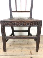 Pair of Antique Carved Oak Hall Chairs (7 of 13)