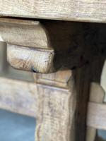 Superb Rustic Large Bleached Oak Farmhouse Table with Extensions (13 of 36)
