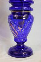 Antique Bristol Blue Oil Lamp (2 of 6)