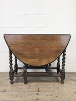 Early 20th Century Antique Oak Gateleg Table (5 of 12)