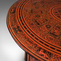 Antique Occasional Table, Oriental, Coffee, Lamp, Stand, Victorian c.1850 (7 of 12)
