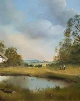 Lovely 'Chocolate Box Quality' Vintage 20thc English Landscape Oil Painting (11 of 15)