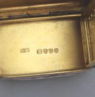 Attractive Victorian Engraved Solid Silver Vinaigrette London c.1877 (8 of 8)