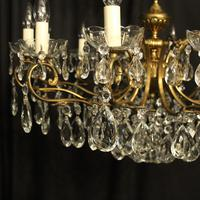 French Gilt & Crystal 12 Light Antique Chandelier Oka04051 (6 of 10)