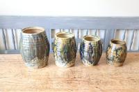 Scottish Pottery Slipware Barrel Storage Jars x4 (16 of 35)