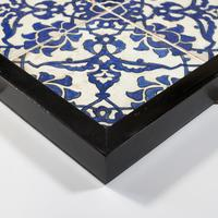 A panel of four square Ottoman Empire 'Dome of the Rock' tiles (4 of 6)