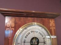 Superb Art Nouveau Antique Inlaid Barometer (4 of 7)