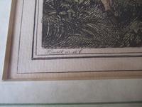 "Late 18th Century Etching ""Pheasant Hawking"" by Samuel Howitt (3 of 6)"