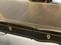French black lacquer and brass bureau plat (6 of 11)