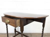 Antique Oak Demi-lune Console Table (10 of 14)