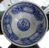 An Extremely Rare Pottery Napoleon Propaganda B&w Commemorative Bowl C.19thc (11 of 12)