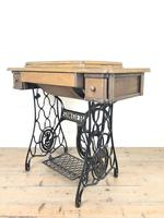 Antique Singer Sewing Machine Side Table (3 of 12)