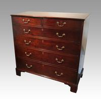 George III Cross Banded Mahogany Chest (2 of 7)