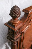 Beautiful Carved Walnut European King Size Bed (5 of 13)