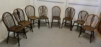Collection of 8 Beech & Elm Country Windsor Chairs (3 of 12)