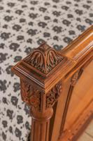 Impressive and beautiful large king size carved walnut bed & matching bedsides (2 of 13)