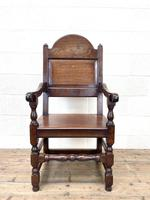 Pair of Antique Oak Throne Chairs (5 of 13)
