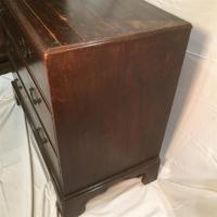 Antique Early Victorian Three Drawer Chest Stained Pine (12 of 12)