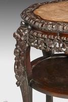 19th Century Chinese Hardwood  Two Tier Stool (2 of 6)