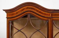 Quality Sheraton Revival Mahogany Display Cabinet (4 of 9)