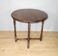 Folding Oak Victorian Table (5 of 6)