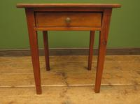 Small Antique Pine Table with Drawer, Very Small Desk (4 of 13)