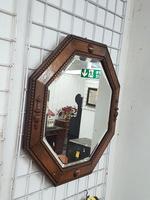 Octagonal Oak Mirror (2 of 3)