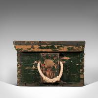Small Antique Mariner's Trunk, English, Pine, Chest, Late Victorian c.1900 (4 of 12)