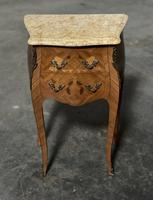 Quality Pair of French Marquetry Bedside Drawers (3 of 22)