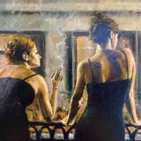 """Fabian Perez Hand Embellished Artists Proof Print """"Cenisientas of the Night"""" with Certificate of Authenticity (5 of 6)"""